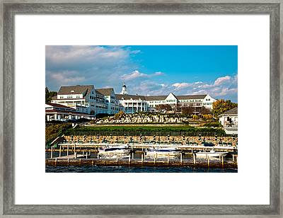 The Beautiful Sagamore Hotel On Lake George II Framed Print by David Patterson