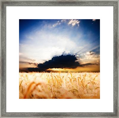 The Beautiful Sunset Framed Print by Boon Mee