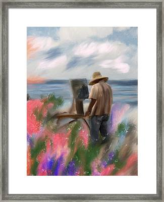 The Beauty Of A Painter Framed Print by Angela A Stanton
