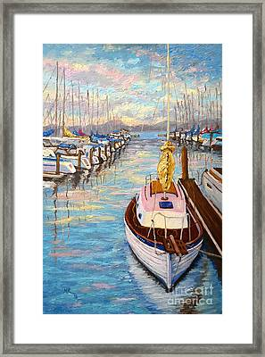 The Beauty Of Sausalito  Framed Print by Francesca Kee