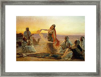 The Bedouin Dancer Framed Print by Otto Pilny