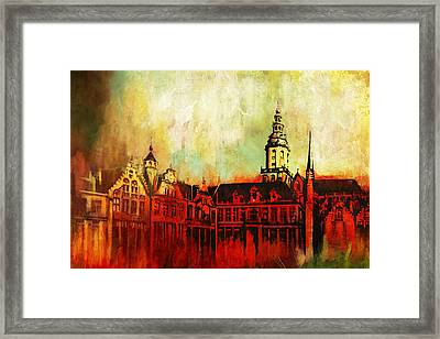 The Belfries Of Belgium And France  Framed Print by Catf