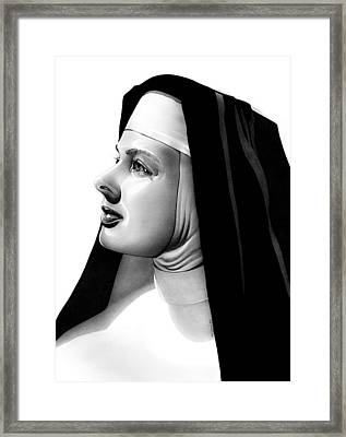 The Bell's Of St. Mary's Sister Mary Benedict Framed Print by Fred Larucci