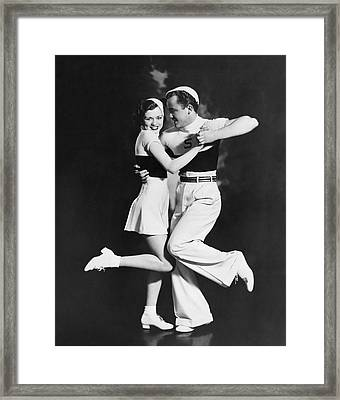 The Bemis Dance Team Framed Print by Underwood Archives