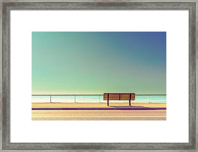 The Bench Framed Print by Arnaud Bratkovic