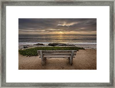 The Bench IIi Framed Print by Peter Tellone