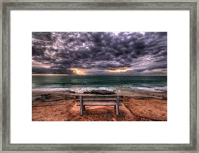 The Bench - Lrg Print Framed Print by Peter Tellone