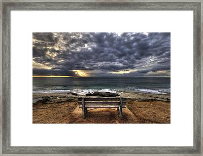 The Bench Framed Print by Peter Tellone