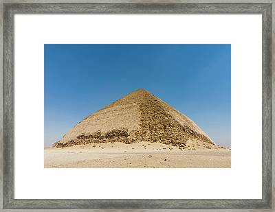 The Bent Pyramid Built By Old Kingdom Framed Print by Nico Tondini
