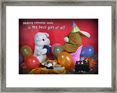 The Best Gift Of All Framed Print by Piggy