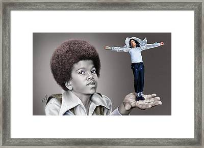 The Best Of Me - Handle With Care - Michael Jacksons Framed Print by Reggie Duffie