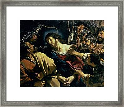 The Betrayal Of Christ, C.1621 Framed Print by Guercino