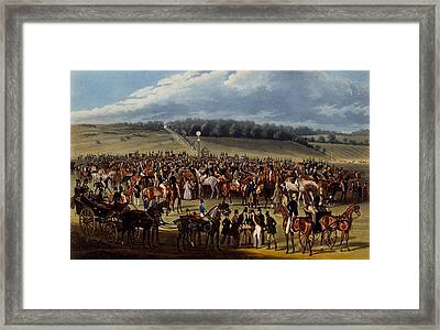 The Betting Post, Print Made By Charles Framed Print by James Pollard