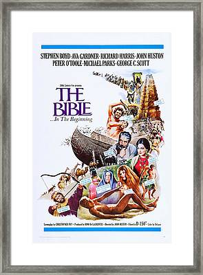 The Bible ...in The Beginning, Us Framed Print by Everett