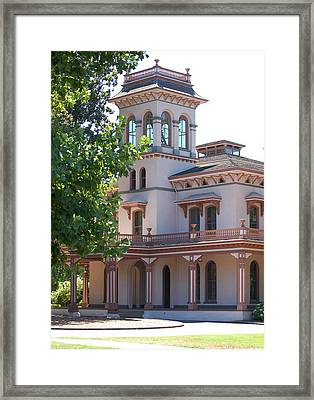 The Bidwell Mansion Framed Print by Holly Blunkall