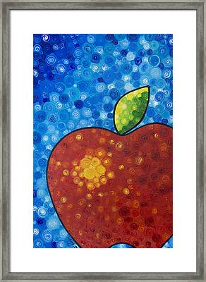 The Big Apple - Red Apple By Sharon Cummings Framed Print by Sharon Cummings