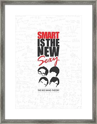 The Big Bang Theory Typography Print Inspirational Quotes Poster Framed Print by Lab No 4 - The Quotography Department