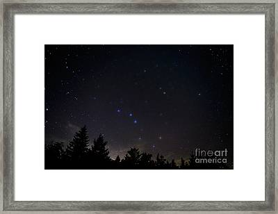The Big Dipper Cranberry Wilderness Framed Print by Thomas R Fletcher
