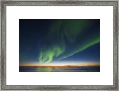 The Big Dipper Hangs Over Curtains Framed Print by Hugh Rose