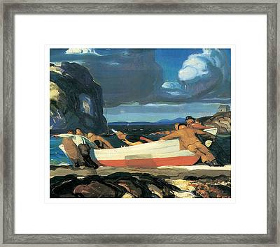 The Big Dory Framed Print by George Bellows
