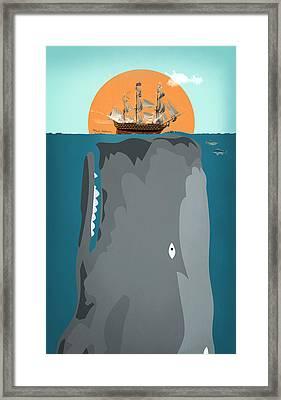 The Big Fish Framed Print by Mark Ashkenazi