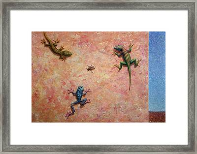 The Big Fly Framed Print by James W Johnson