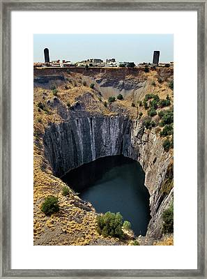 The Big Hole Framed Print by Patrick Landmann
