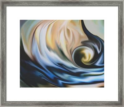 The Big Wave Framed Print by Jessie J De La Portillo