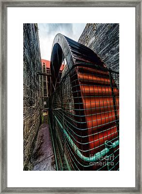 The Big Wheel Framed Print by Adrian Evans