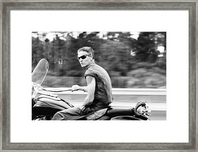 The Biker Framed Print by Laura Fasulo