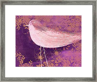 The Bird - 100-01b Framed Print by Variance Collections
