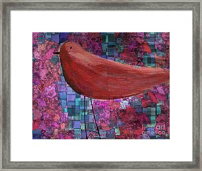The Bird - 23a01a Framed Print by Variance Collections