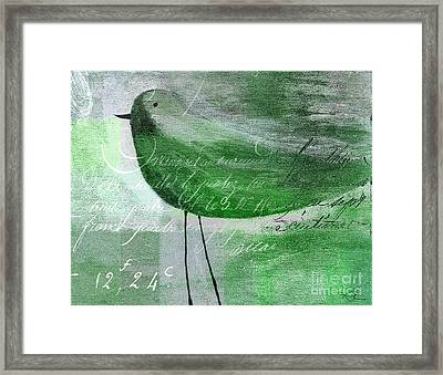 The Bird - Gr-j099225225-02 Framed Print by Variance Collections