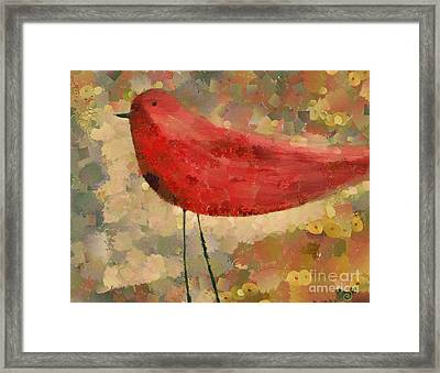The Bird - K04d Framed Print by Variance Collections
