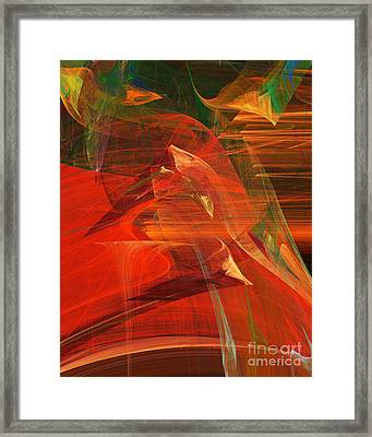 The Bird Whisperer . A120423.693 Framed Print by Wingsdomain Art and Photography