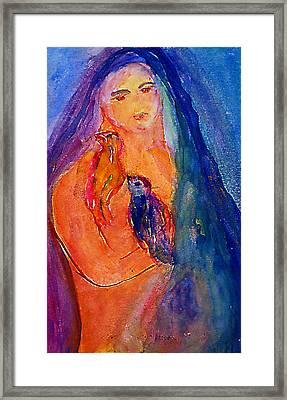 The Bird Whisperers Framed Print by Studio Tolere