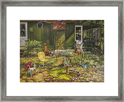 The Birdbath Framed Print by William Bukowski