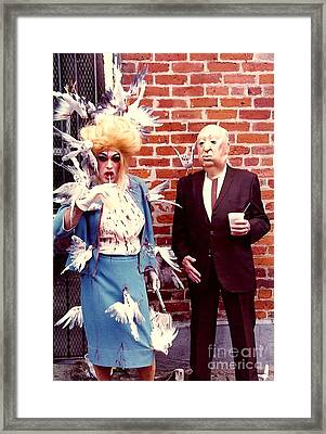 The Birds And Alfred Hitchcock Mardi Gras Day In The French Quarter New Orleans Louisiana Framed Print by Michael Hoard