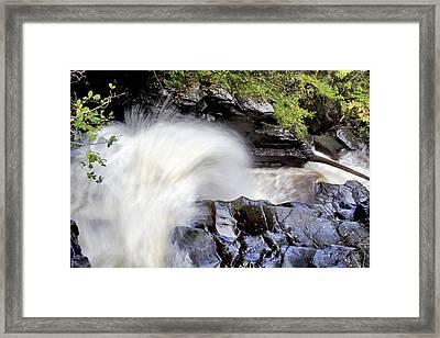 The Birks Waterfall - Aberfeldy Scotland Framed Print by Jason Politte