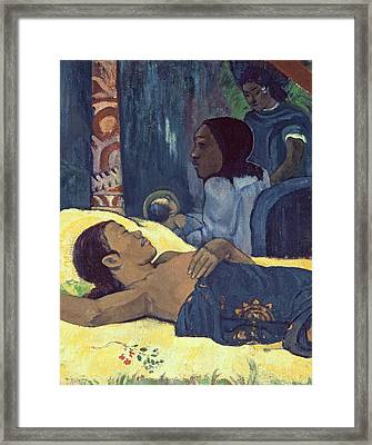 The Birth Of Christ Framed Print by Paul Gauguin