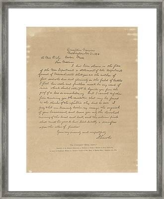 The Bixby Letter Framed Print by Celestial Images