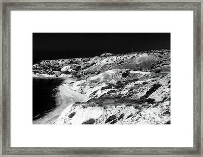 The Black Coast Framed Print by John Rizzuto