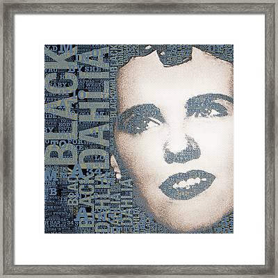 The Black Dahlia Elizabeth Short Framed Print by Tony Rubino