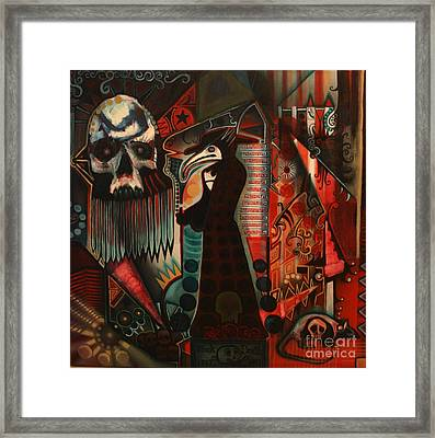 The Black Death Framed Print by Michael Kulick