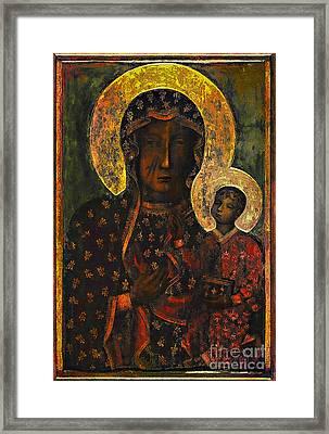 The Black Madonna Framed Print by Andrzej Szczerski