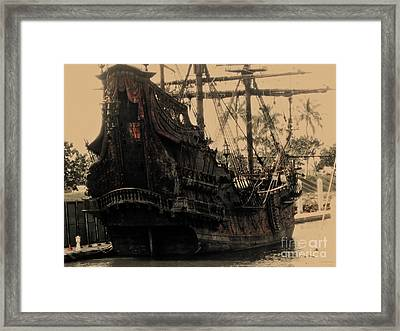 The Black Pearl Framed Print by Cheryl Young