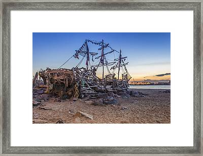 The Black Pearl Framed Print by Paul Madden
