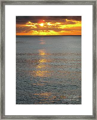 The Black Sea In A Swath Of Gold Framed Print by Phyllis Kaltenbach