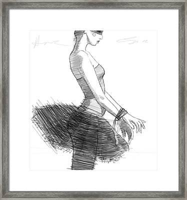 The Black Tutu Framed Print by H James Hoff