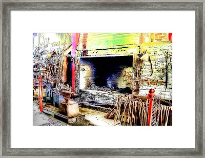 The Blacksmiths Forge. Framed Print by Trevor Kersley